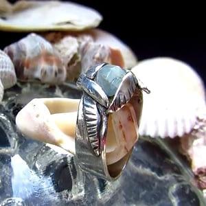 anello gabbiani acquamarina
