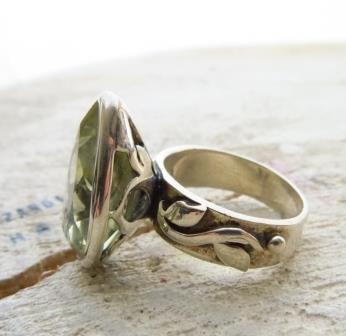 Anello Citrino Argento 925 Anillo Plata Citrine Silver sterling Ring
