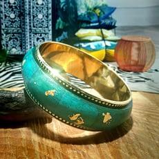 bracciale foglia oro turchese