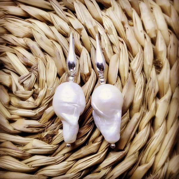 orecchini perle gancetto goccia