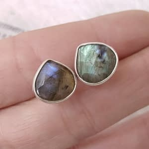 Lobo Orecchini Labradorite Argento