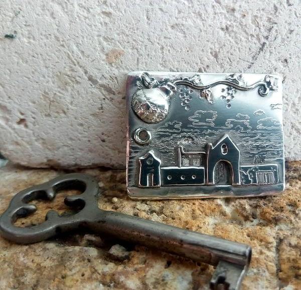 portachiavi argento masseria casetta
