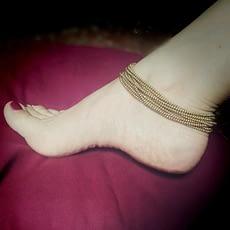Cavigliera Perline Ottone
