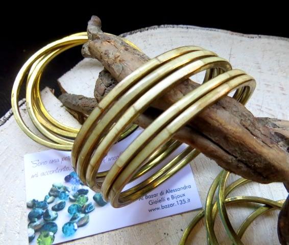 Pulsera hueso marfil bracciale osso avorio
