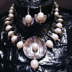 collana cyber perle argento